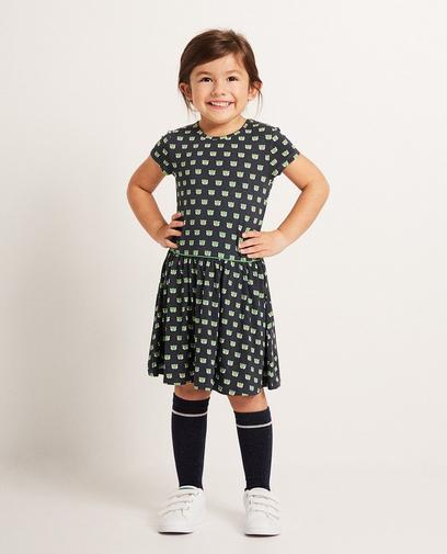 Viskose-Kleid mit Print